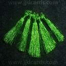 Metallic Tassles - Green