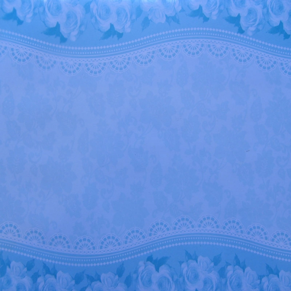 Kanban Printed Acetate Swirl Quilt Stitch Blue