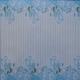 Watercolour Acetate - Floral Stripe - Turquoise