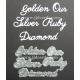 BRITANNIA DIES - GOLDEN OUR SILVER RUBY DIAMOND - WORD SET - 007