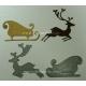 BRITANNIA DIES - CHRISTMAS REINDEER & CHRISTMAS SLEIGH - 114 &110