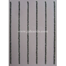 2mm Rhinestud Strips - Gun Metal